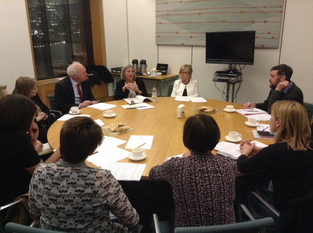 Speakers Ellen Broome from the Family and Childcare Trust and Dr Helen Stephenson from the Department for Education were joined by Nick Dakin MP, Baroness Tyler, Baroness Armstrong and a range of stakeholders for a round table discussion of early years education provision.