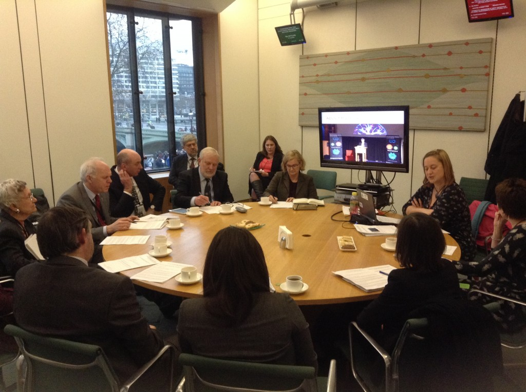 Speakers Andrew Miller MP, Amanda Spielman, Chair of Ofqual, and Katherine Mathieson of the British Science Association were joined by Nick Dakin MP, Baroness Howe and a range of stakeholders for a round table discussion of science education provision.