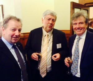 Danny Kinahan MP, Chair of the APPG for Education, Dominic Savage of the British Educational Suppliers Association, and Neil Carmichael MP, Chair of the Education Select Committee