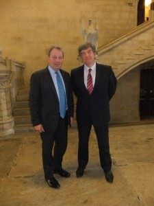 Danny Kinahan MP, Chair of the APPG for Education, with Sir David Carter, National Schools Commissioner